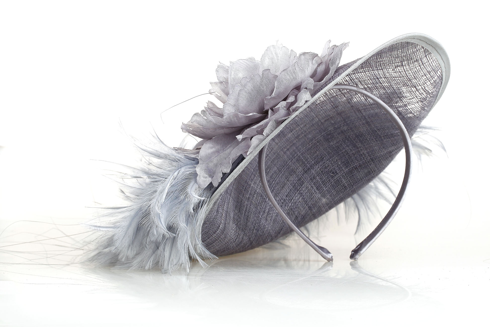 Grey fascinator fascinators amp headpieces mince his words