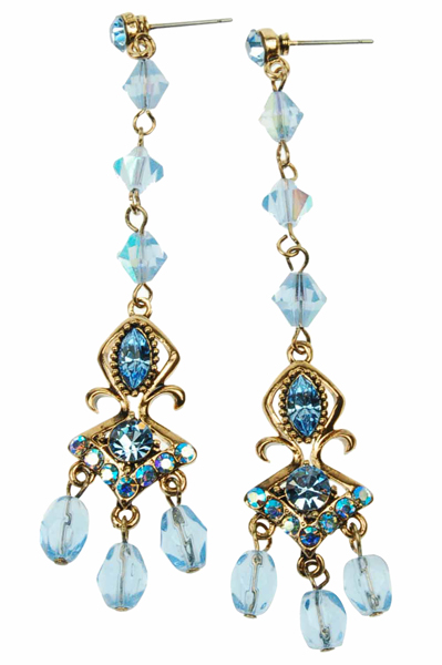 sky blue chandelier earrings