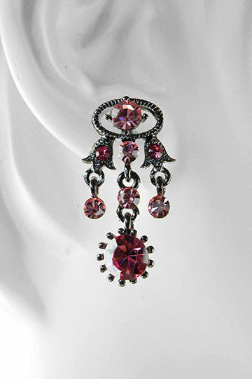 matching amethyst and antique silver chandelier earrings