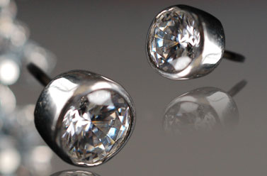 clear Swarovski crystal stud earrings