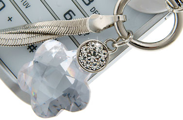 crystal phone charm mobile jewellery