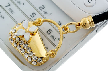crystal phone charm for Paris Hilton