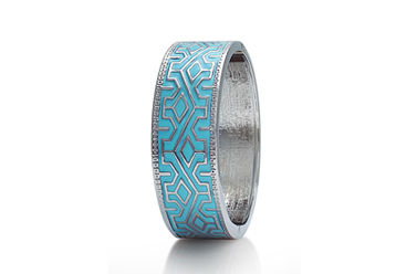 open view o turquoise bangle bracelet costume jewellery