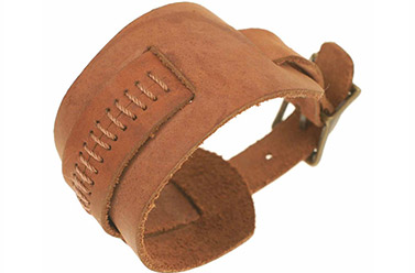 leather wristband costume jewellery